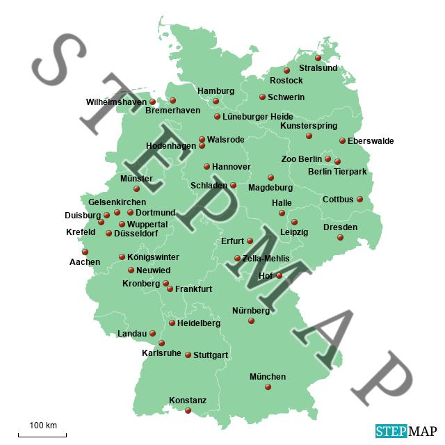 tierpark deutschland karte StepMap   Ulis Zoos und Tierparks   Landkarte für Deutschland
