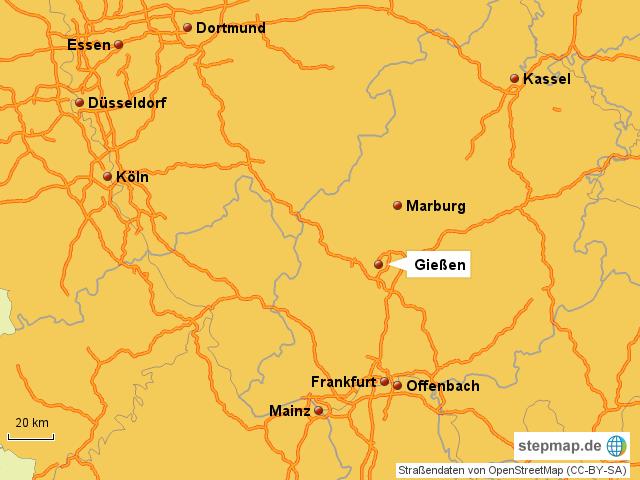 Karte Kassel Und Umgebung.Stepmap Umgebung Giessen Landkarte Fur Deutschland