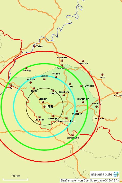 umkreis karte StepMap   Umkreiskarte 1   Landkarte für Deutschland umkreis karte