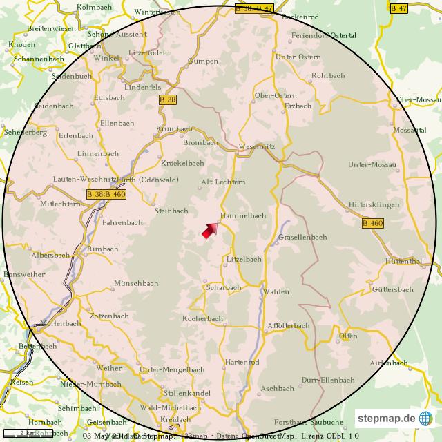umkreis karte StepMap   Umkreiskarte   Landkarte für Welt umkreis karte