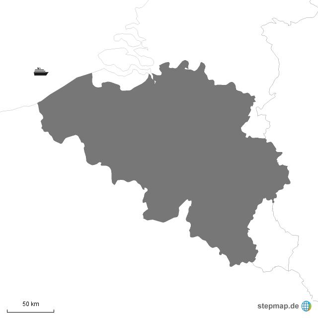 Belgien Karte Umriss.Stepmap Umriss Belgien Landkarte Für Deutschland