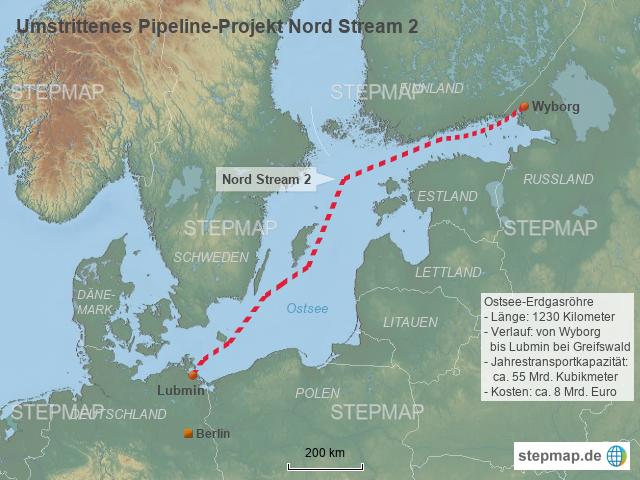 Nord Stream 2 Karte.Stepmap Umstrittenes Pipeline Projekt Nord Stream 2