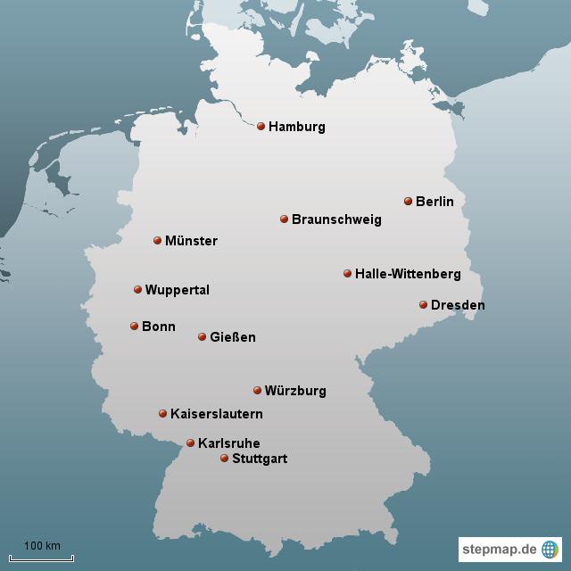 Universit ten lebensmittelchemie von misterj landkarte for Universitaten deutschland
