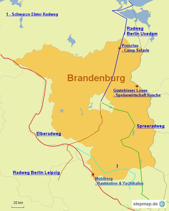 stepmap unterk nfte in brandenburg landkarte f r deutschland. Black Bedroom Furniture Sets. Home Design Ideas