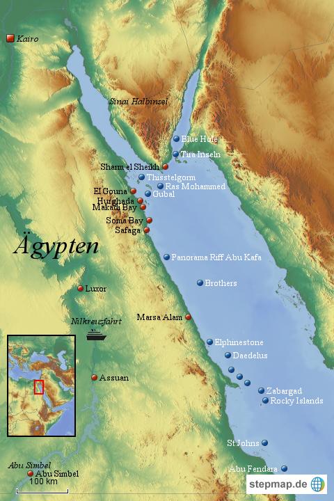 ägypten karte urlaubsorte StepMap   Urlaubsorte in Ägypten   Landkarte für Ägypten ägypten karte urlaubsorte