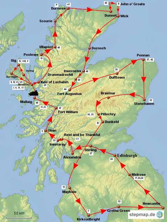 Sehenswürdigkeiten Großbritannien Karte.Stepmap V4 Schottland Womo Tour 2015 Inkl Sehenswürdigkeiten