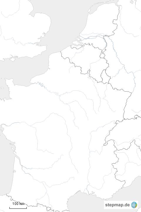 6c6bc667a9651b StepMap - Van Gogh in schwarz weiß - Landkarte für Deutschland