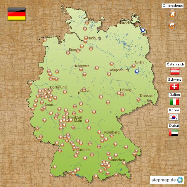 Stepmap Vertriebspartner Holzpost Landkarte Für Deutschland