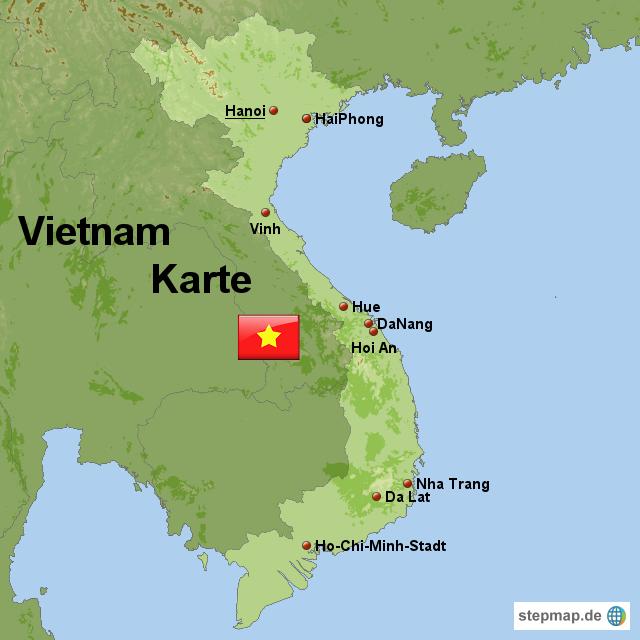 Vietnamkrieg Karte.Stepmap Vietnam Karte Landkarte Für Vietnam