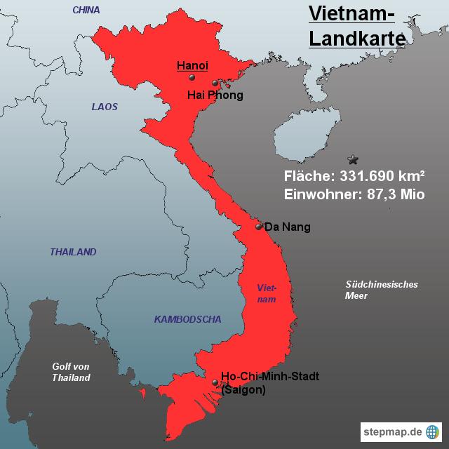 Vietnamkrieg Karte.Stepmap Vietnam Landkarte Landkarte Für Vietnam