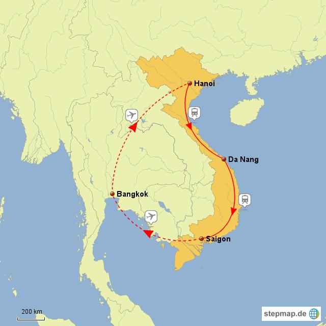 vietnam rundreise von moeby86 landkarte f r vietnam. Black Bedroom Furniture Sets. Home Design Ideas