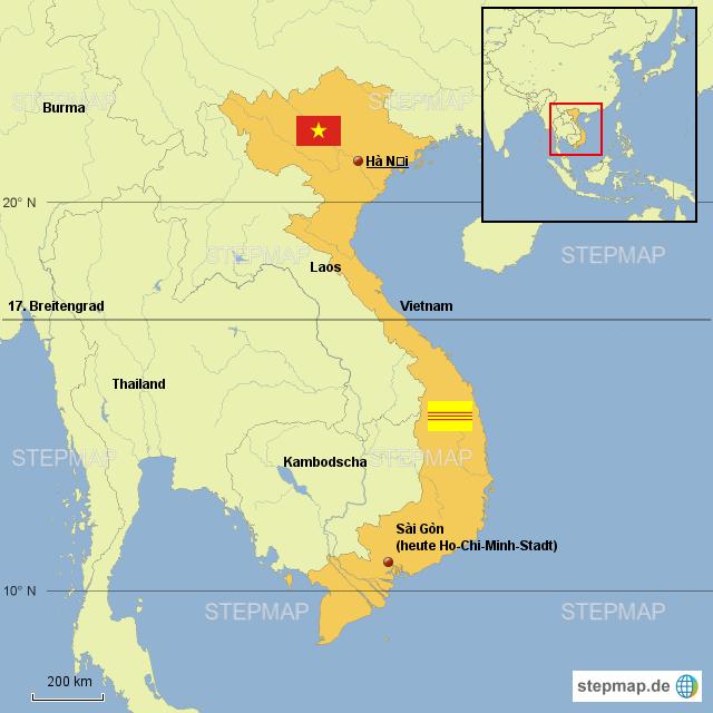 Vietnamkrieg Karte.Stepmap Vietnamkrieg Karte Landkarte Für Vietnam