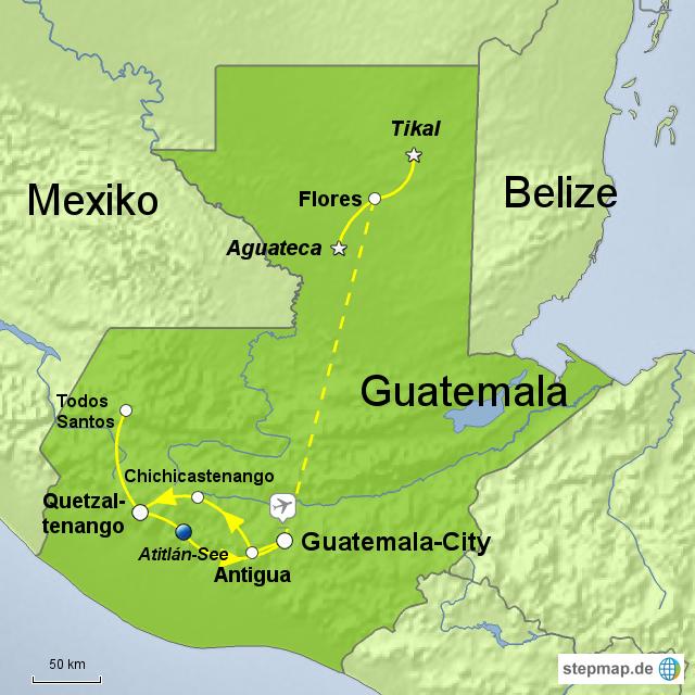 guatemala karte StepMap   Viva Guatemala   Landkarte für Guatemala