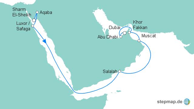 Karte ägypten Sharm El Sheikh.Stepmap Von Sharm El Sheikh Nach Dubai Landkarte Für ägypten
