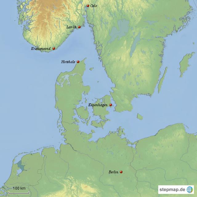 Karte Norwegen Dänemark.Stepmap Vorlage Seutschland Dänemark Norwegen Landkarte Für Europa