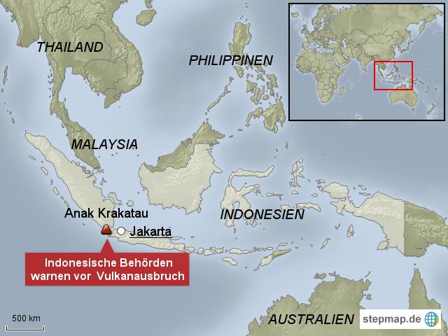Vulkane Philippinen Karte.Stepmap Vulkan Anak Krakatau Indonesien Landkarte Für Indonesien