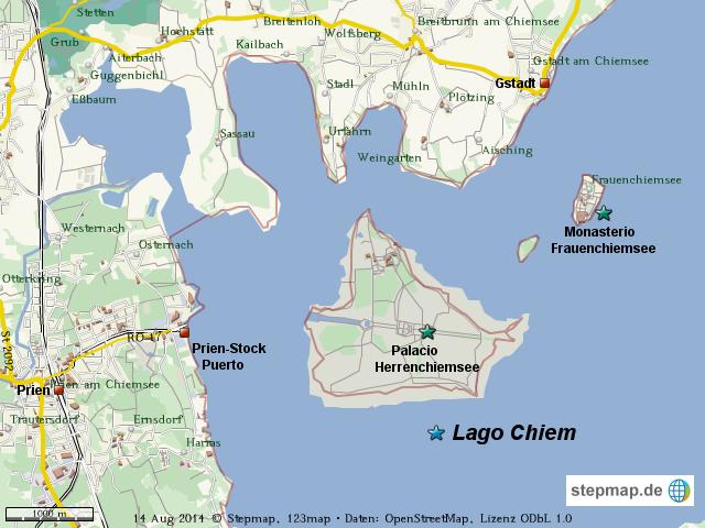 Chiemsee Karte Region.Stepmap Wm Chiemsee Landkarte Fur Welt
