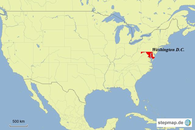 Washington Dc Karte.Stepmap Washington D C Landkarte Für Usa