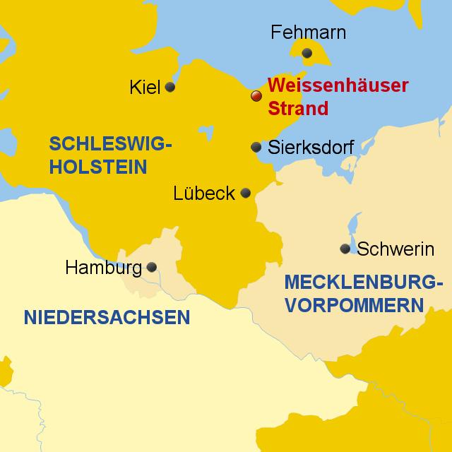 Stepmap Weissenhauser Strand Landkarte Fur Deutschland