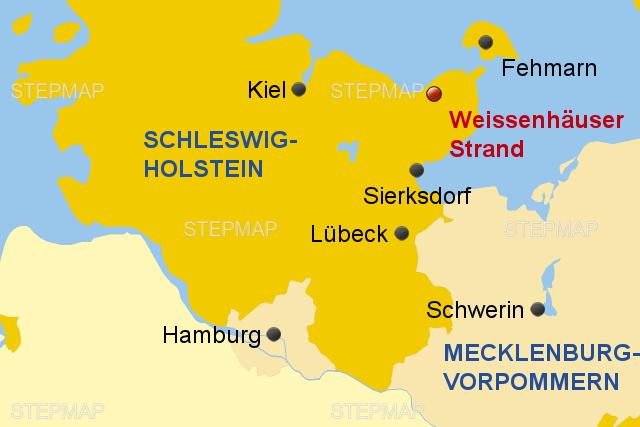Stepmap Weissenhauser Strand 3 2 Landkarte Fur Deutschland