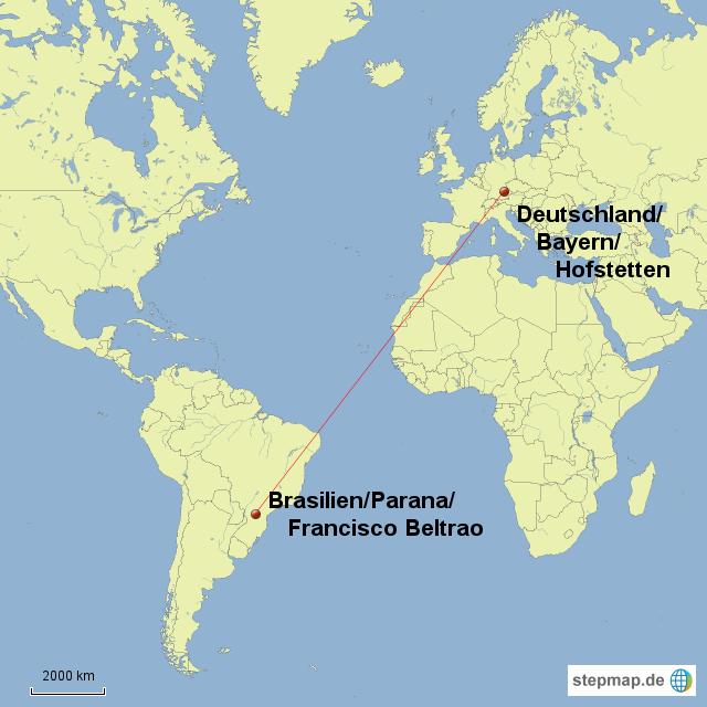 Brasilien Karte Welt.Stepmap Welt Brasilien Deutschland Landkarte Für Welt