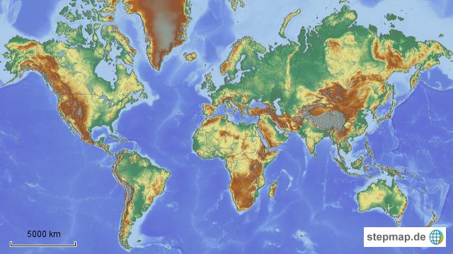 Stepmap Welt Geografisch Landkarte Für Welt