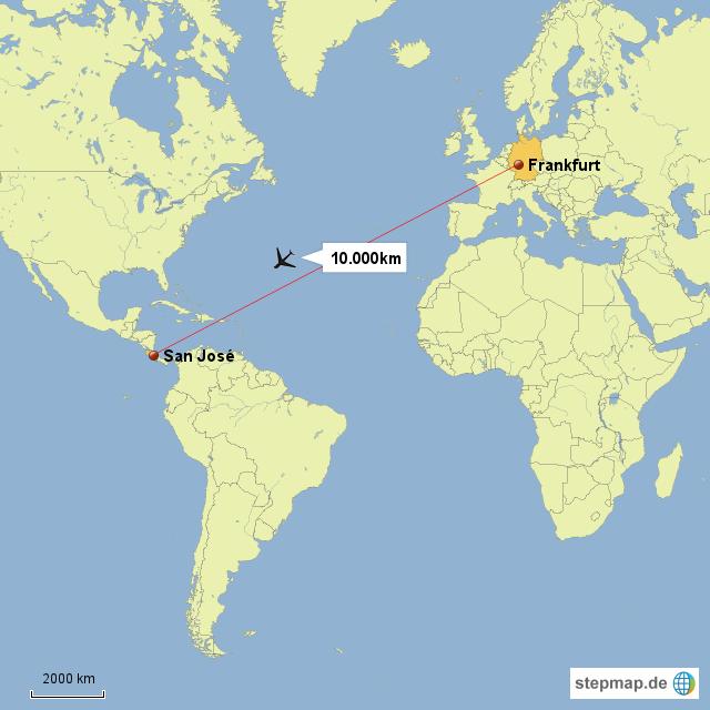 costa rica weltkarte StepMap   Weltkarte Costa Rica Deutschlnd   Landkarte für Deutschland costa rica weltkarte