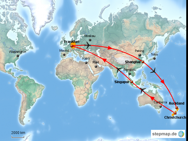 neuseeland weltkarte StepMap   Weltkarte Neuseeland   Landkarte für Welt neuseeland weltkarte