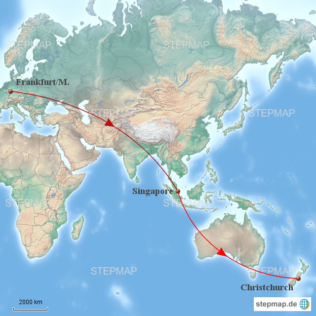 weltkarte neuseeland StepMap   Weltkarte Neuseeland   Landkarte für Deutschland weltkarte neuseeland