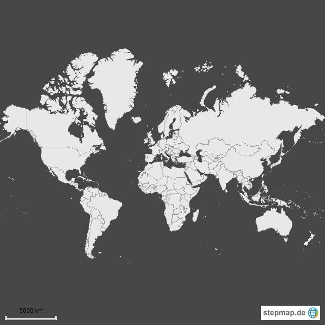 weltkarte einfach StepMap   Weltkarte einfach   Landkarte für Welt weltkarte einfach
