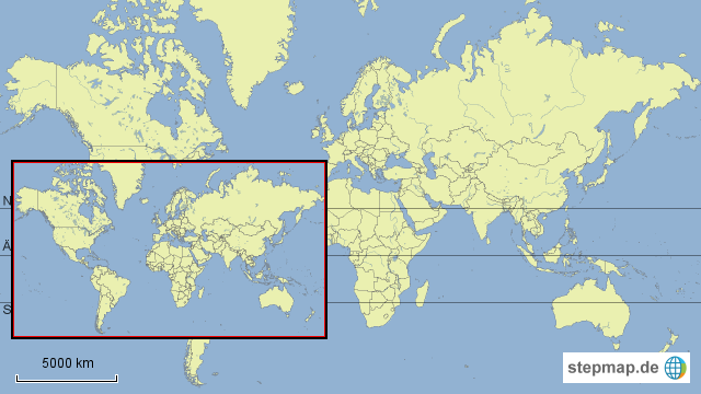 weltkarte mit äquator StepMap   Weltkarte mit Wendekreisen und Äquator   Landkarte für Welt weltkarte mit äquator