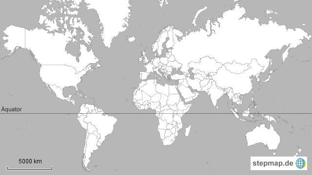 weltkarte mit äquator StepMap   Weltkarte mit Äquator   Landkarte für Welt weltkarte mit äquator