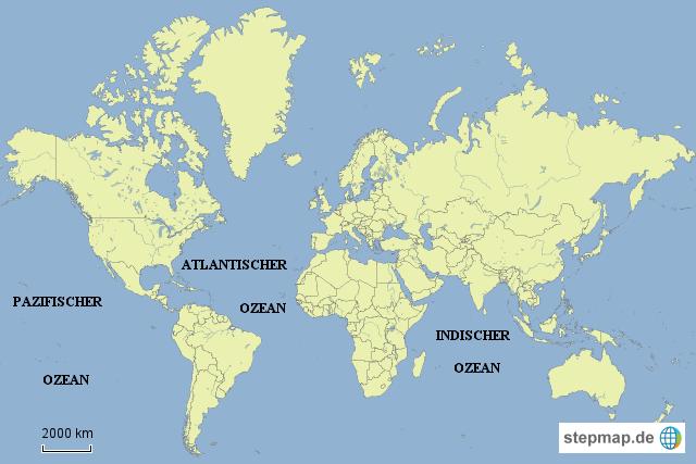 weltmeere karte Die Weltmeere Karte | Deutschland Karte