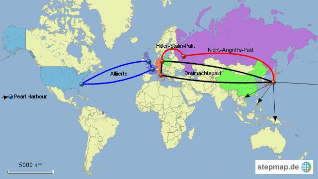2 weltkrieg karte StepMap   Wichtigste Bündnisse vor dem 2. Weltkrieg   Landkarte