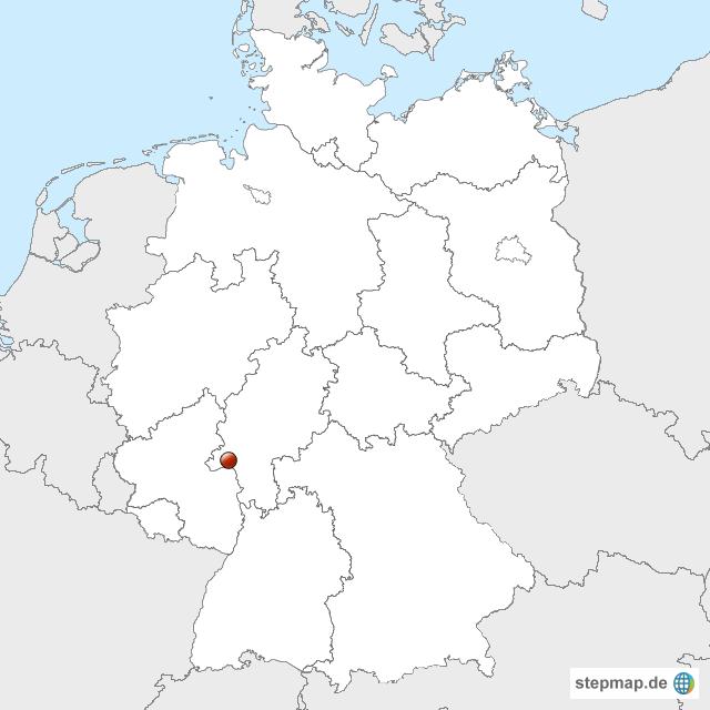 StepMap - Wiesbaden - Landkarte für Deutschland