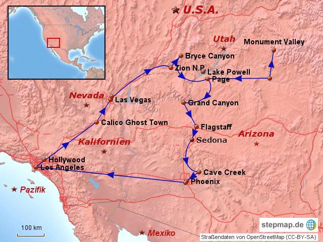 wilder westen karte StepMap