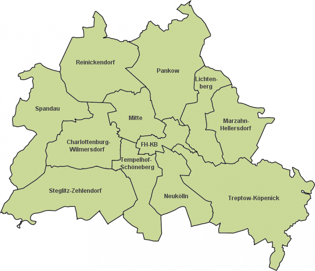 landkarte berlin StepMap   Wohnmarktreport GSW Bezirke Berlin   Landkarte für  landkarte berlin