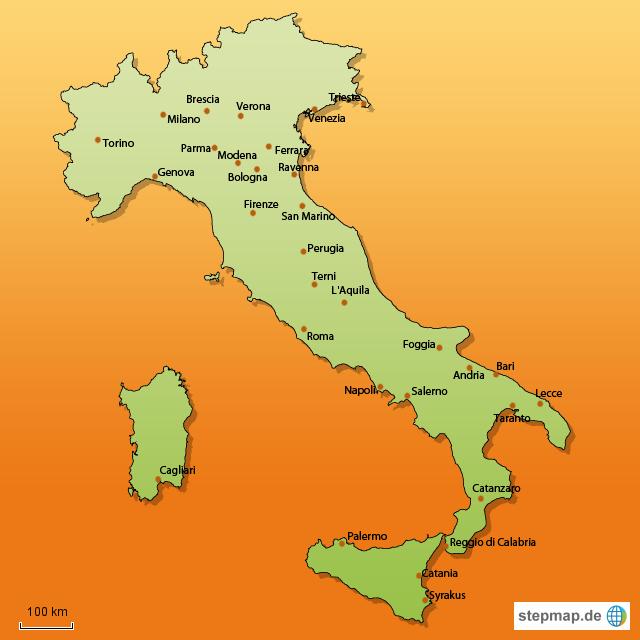 wohnmobilstellplätze italien karte StepMap   Wohnmobilstellplatz Karte Italien   Landkarte für Italien