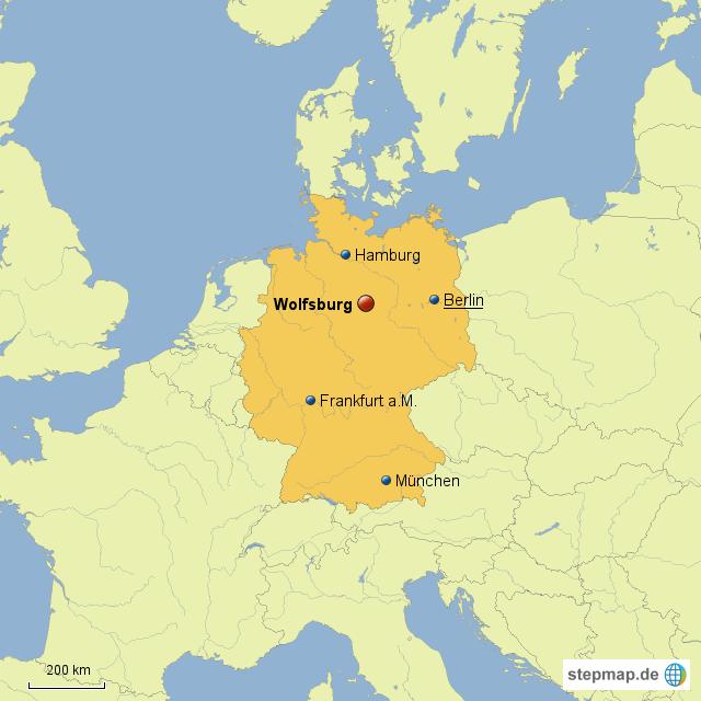 StepMap - Wolfsburg in Deutschland - Landkarte für Deutschland
