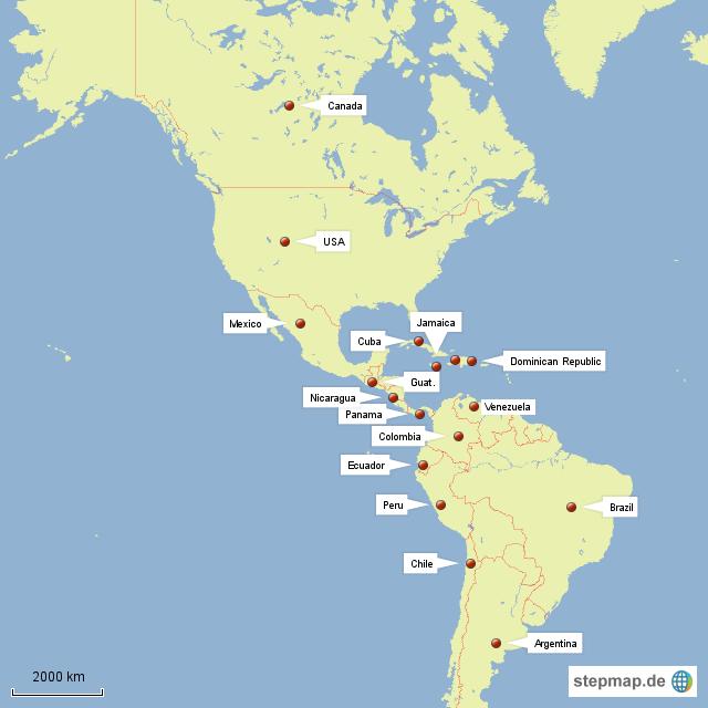 StepMap - World Map - Landkarte für Welt