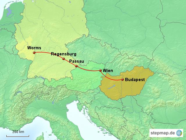 Worms Karte Deutschland