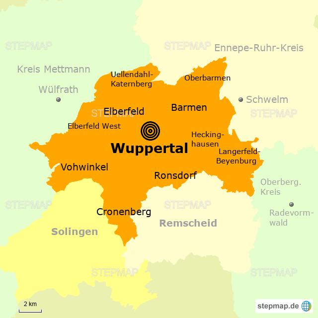 Wuppertal Karte Stadtteile.Wuppertal Karte Deutschland Neu Pin Hd
