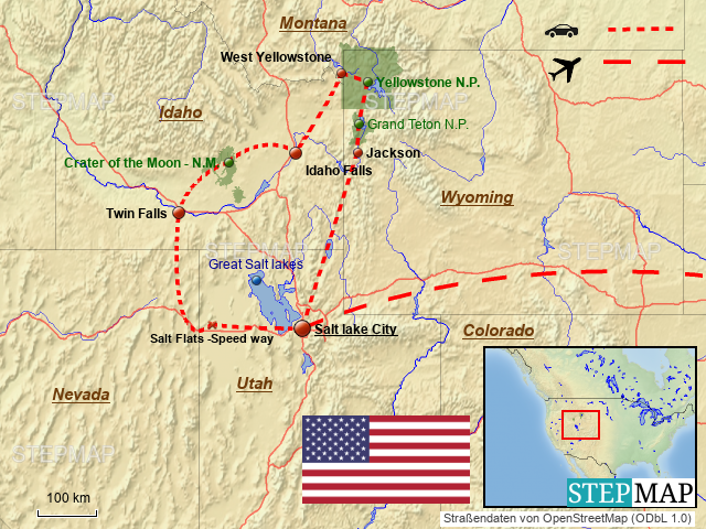 Yellowstone Karte.Stepmap Yellowstone Landkarte Für Usa