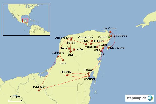 yucatan karte StepMap   Yucatan   Landkarte für Mexiko yucatan karte