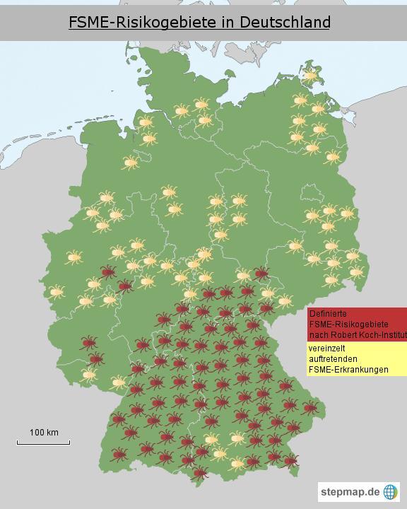 zecken karte StepMap   Zeckenkarte Deutschland   Landkarte für Deutschland