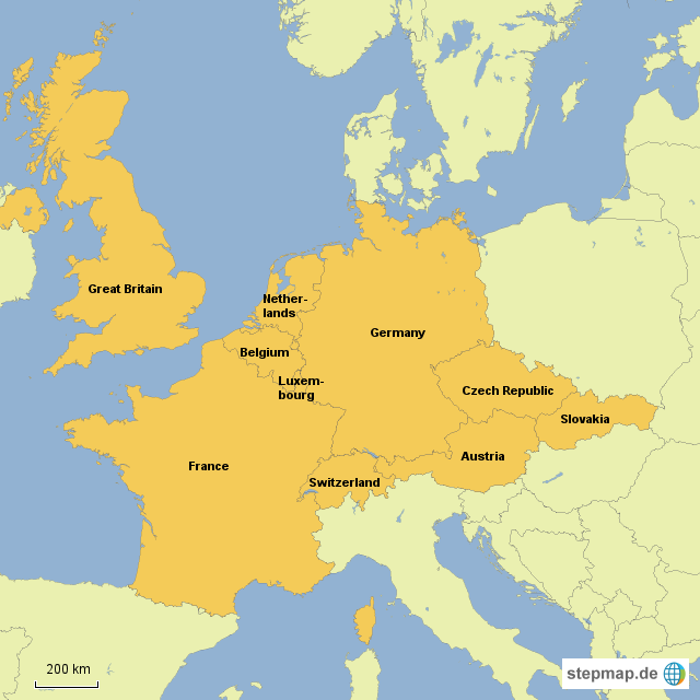 zentraleuropa karte StepMap   Zentraleuropa   Landkarte für Deutschland zentraleuropa karte