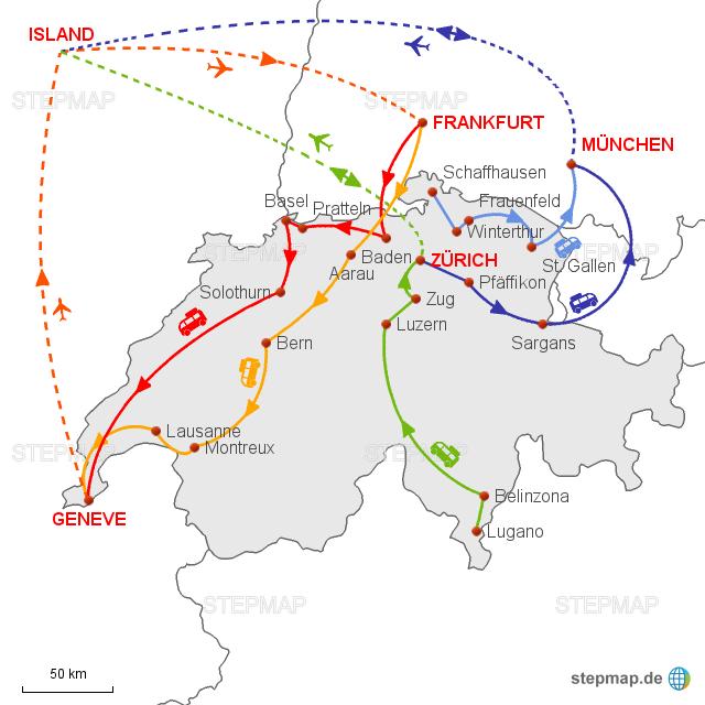 A 0717 Island Von Schmidreisen Landkarte Für Die Schweiz