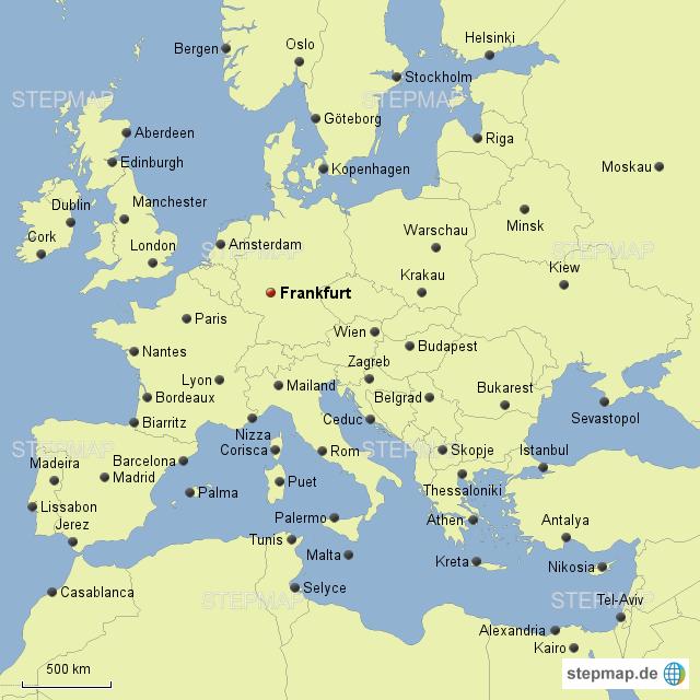 Frankfurt Karte Europa.Stepmap Ab Frankfurt Europa Landkarte Für Deutschland