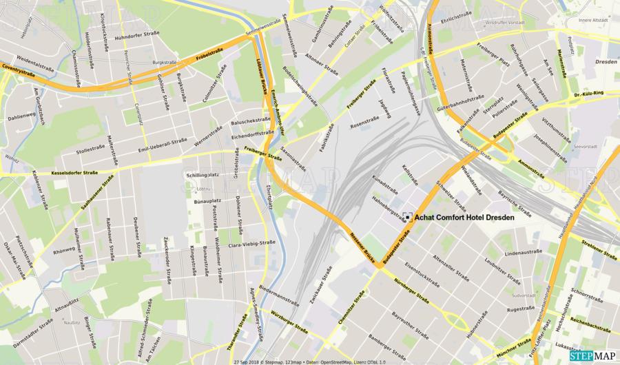 Stepmap Achat Comfort Hotel Dresden Landkarte Fur Deutschland