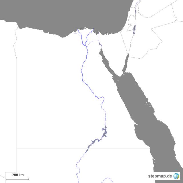 Karte ägypten Nil.Stepmap ägypten Nil Landkarte Für Afrika